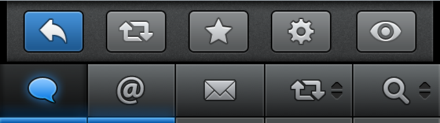 Interface: Tweetbot buttons