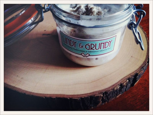 [taste testing] Pork Rillette from Lindy & Grundy @LindyGrundy. I toasted it with a slice of bread, then added sea salt and black pepper, it was absolutely delightful!