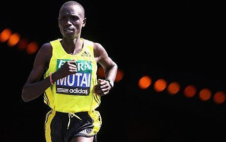 idontgetrunnershigh:  mynameisbrian:  New marathon world record Geoffrey Mutai's 2:03:01 this morning in Boston is the fastest marathon ever by nearly a minute. It tops Gebrselassie's 2008 mark, and is the largest drop in the world record in more than 40 years.   certified baller  wow