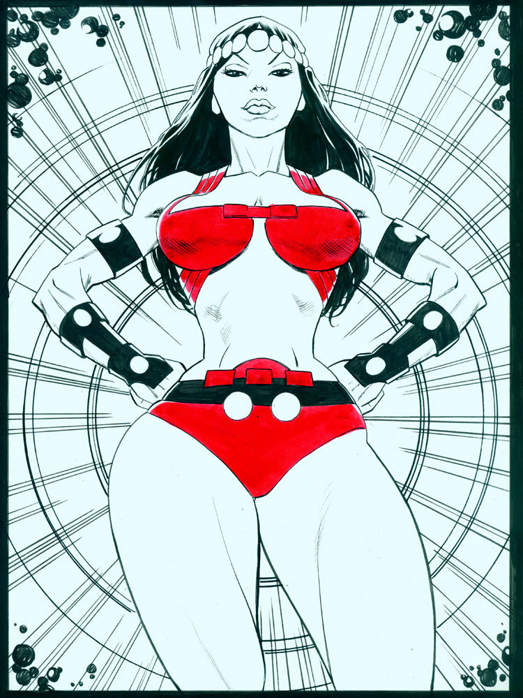 pizza-party:  @MikeHawthorne's Big Barda: A commission. Nicely done, Mike. Sexy and imposing as hell. I can dig it! As posted on Mike's blog.  Big Barda forever.