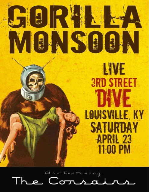 We are playing THIS SATURDAY (April 23rd) in Louisville Kentucky!!! This  is our 1st out of town show so we're really excited!  I hope it will be  an awesome turn out and for those of you that happen to be local, I hope  you'll come! ;)