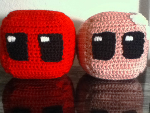 Super Meat Boy & Bandage Girl VG-CUBES. Pillow-like crocheted cubes of favorite video game characters. They're my latest crochet loves. For a closer look…