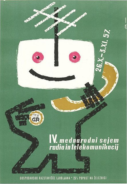 Vintage Slovenian poster design. More on my blog HERE. Via Vintage Advertising and Poster Art.