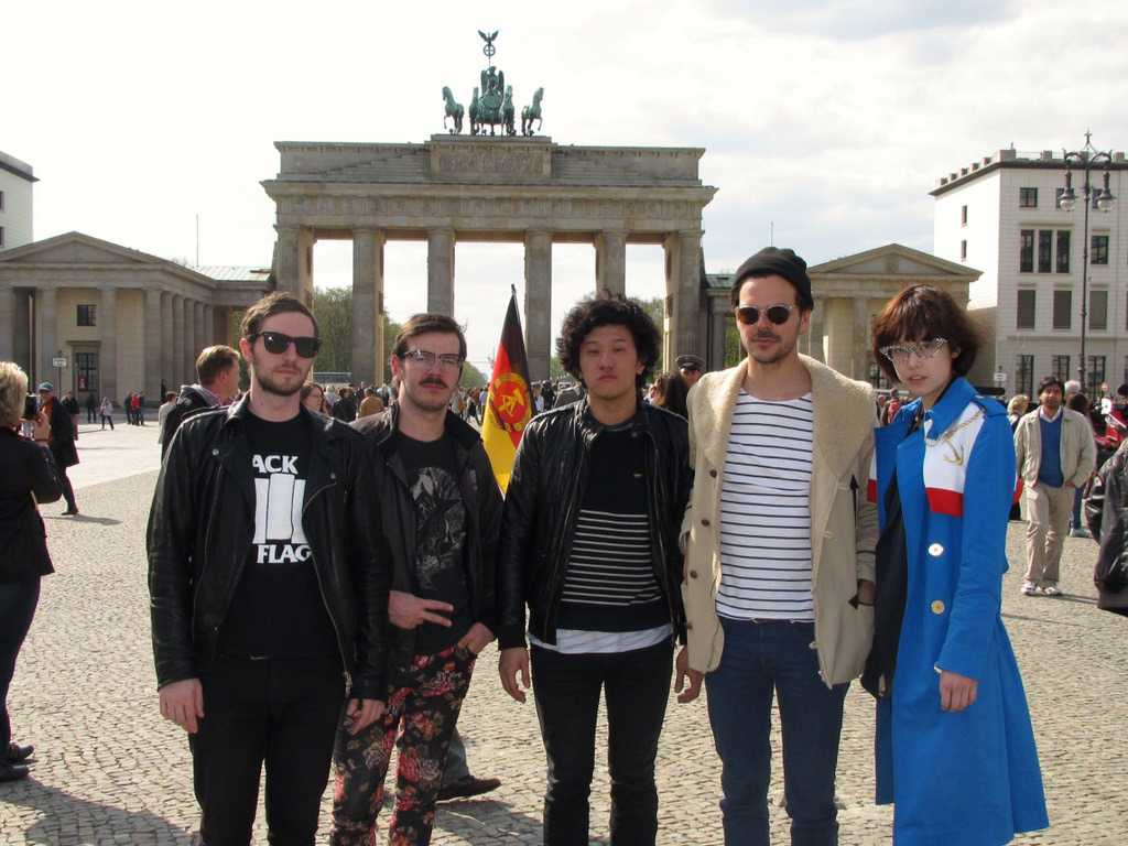 all of us at the brandenburg gate, berlin