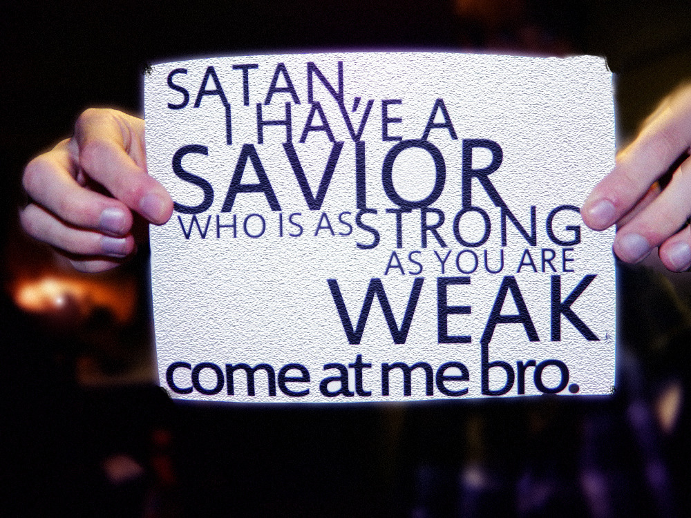 godovereverything:  #SWAG  satan you cannot BEAT MY SAVIOR!