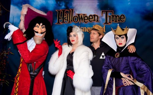 Matthew Morrison and the Disney Villains.