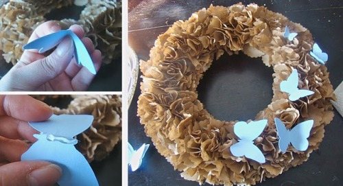 (via MaryJanes and Galoshes: Butterfly Wreath- Think Spring!)