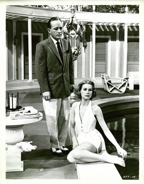 promocaster:  Bing Crosby and Grace Kelly in High Society. The 1956 musical would be her final film before joining a really high society in Monaco.