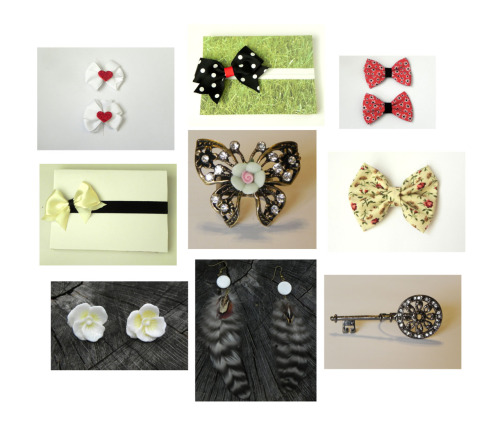 Little Lady Boutique sell handmade accessories and jewelries for $5.00 or less. Shipping is $2.50 worldwide. this image is a collage of what's on my wish list. here's her tumblr.
