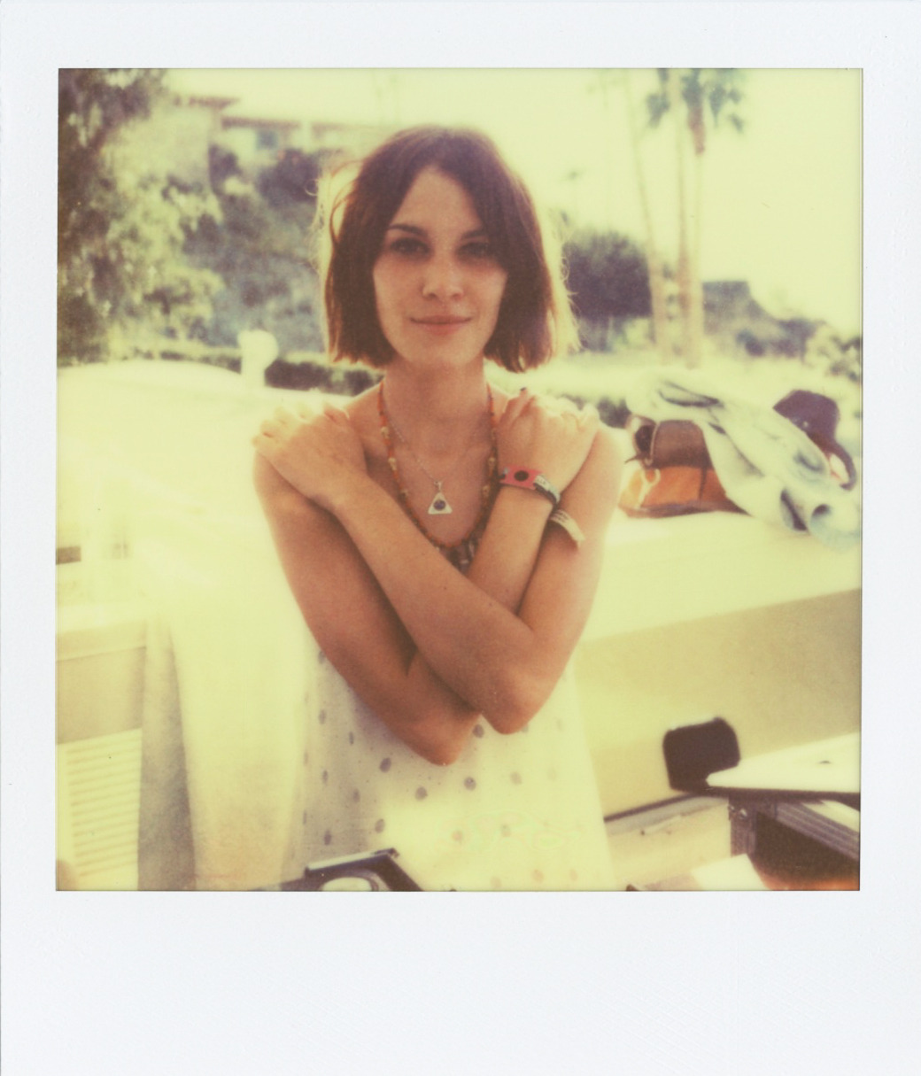 Alexa Chung, Palm Springs, April 2011  Shot for Kanon Vodka at the Phillip Lim Party. See more polaroids here!  And this is new Impossible Project film, to be released on their website soon. Fun.