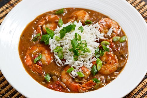 Shrimp and Okra Gumbo with Rice