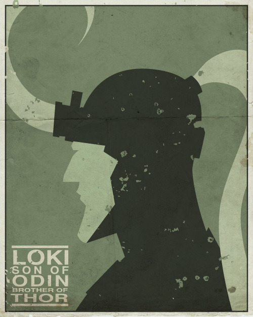 drawsgood:  Loki poster, numba 2 of 3 for the Thor series. Now I just need Odin.