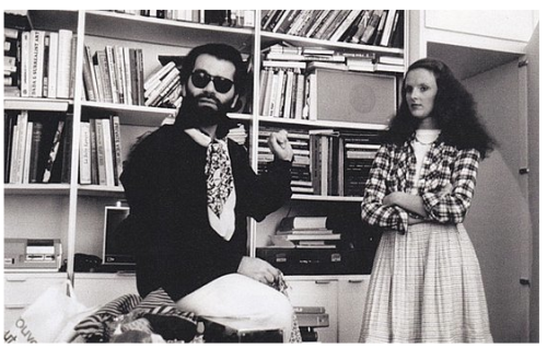 awesomepeoplehangingouttogether:  Karl Lagerfeld and Grace Coddington, 1974