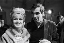 Brigitte Bardot with ex-husband Roger Vadim
