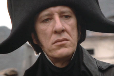 vintagedudes:  Geoffrey Rush as Javert in Les Mis.