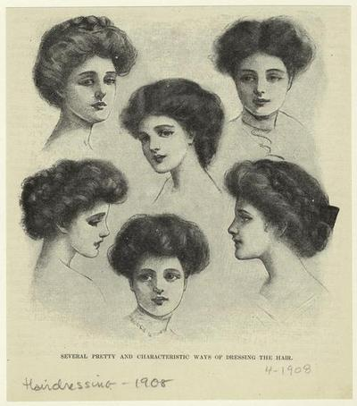 rosecarousel:  Hairstyles from 1908.