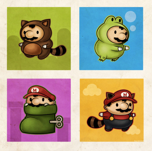 demiurgic:  Mario Suits   fuck yes <3 So cute!