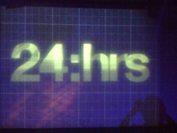 24:hrs logo projection, 2009