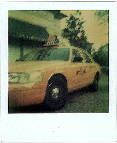 NYC Taxi Camera: Polaroid SX-70Film: TZ Artistic  Original Polaroid, no app stuff
