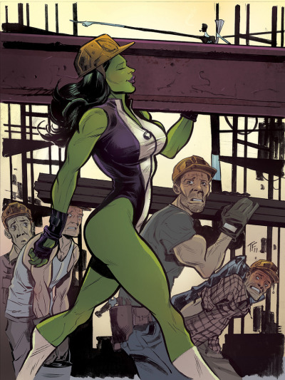 tomfowlerstuff:  she-hulk! colours by jordie bellaire.