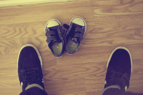 Look at those adorable mini-me size shoes!