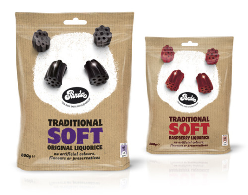 weandthecolor:  Panda Traditional Soft Liquorice Designed by Cowan London. More package design inspiration. __posted by weandthecolor // facebook // twitter