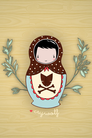 My new iphone background. Matryoshka doll design by local company, Crywolf.  -Cory U