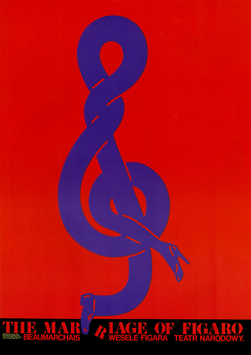 Japanese Poster: The Marriage of Figaro. Shigeo Fukuda. 1981