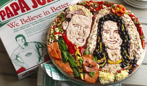 "Papa John's Pizza Celebrates the Royal Wedding with…What The…? Papa John's, which has been trying to woo American consumers with a campaign that essentially says ""Our old toppings sucked. Try our new ones,"" has taken their oddball promotional schemes to the next level."