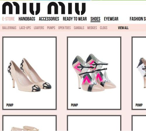 Oh my giddy aunt. Miu Miu have joined the eCommerce race. I am itching to raid my savings account…