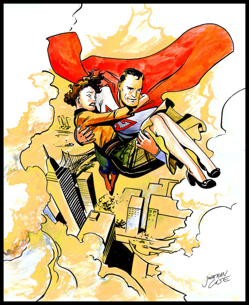 Retro Superman! A Stumptown Comics Fest commission from Jonathan Case.