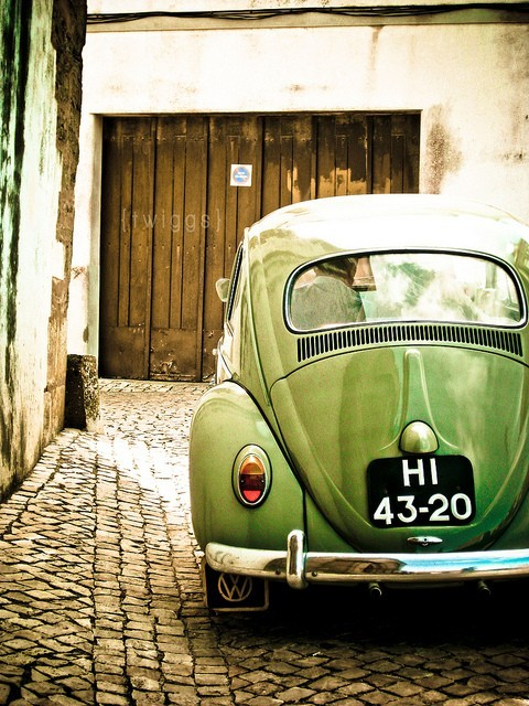 | ♕ |  Vintage Green Beetle  | by © {Twiggs}  via huffley6 : crushculdesac : ysvoice : yukinokoduck