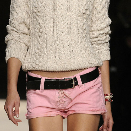 The sweater, the shorts, the belt, the bangles need to be on me right now.