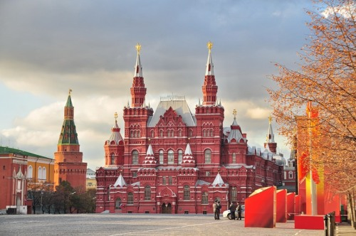 The Red Square and view of the State Historical Museum of Russia