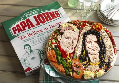 About time: Papa John's unveils their royal wedding pizza The Royal Pizza: Ubiquitous pizza chain Papa John's enlisted the aid of a food artist to create this topping-heavy monstrosity ahead of Britain's royal wedding. We'd love to get one of these, freeze it in a lock box somewhere, and see how much value it accrues over the next few decades. After all, people seem to love royal family memorabilia, and pizza, so it's a slam dunk. (In other related news, we friggin' love the URL on this story. Actually, go here.) source Follow ShortFormBlog