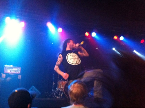Back from the show, Cancer Bats rocked the house. \m/