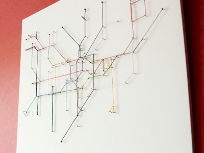 String map (by fsm vpggru) map of the London Underground rendered in string