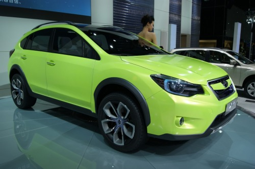 Subaru XV Concept Subaru  has released scant details other than that it is powered by a 2.0-liter  engine coupled to a CVT and the exterior dimensions are pretty close to  that of the current Impreza Outback Sport. It has 19-inch wheels and a full length  panorama roof.