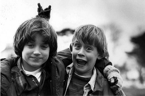 andrewharlow:  Macaulay Culkin and Elijah Wood  childhood memories:D