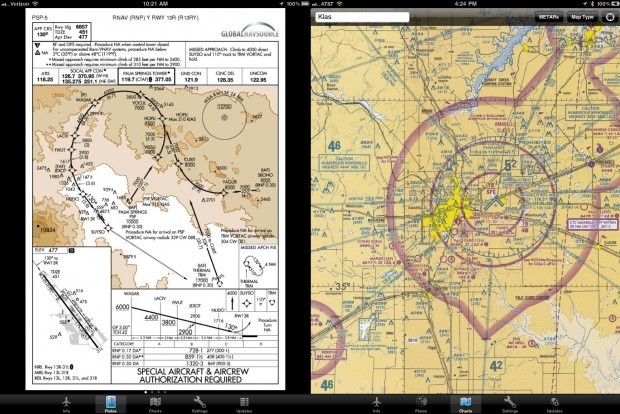 "EFB For iPad: Will Your Pilot Be Using This In 2012?  Back in February, we heard that a private jet company had gotten FAA approval to use an iPad-based charting system instead of paper charts, which are  the standard throughout the industry. They used an app called Mobile  TC, but GlobalNavSource has come up with another app, EFB (""electronic flight bag""), and it's being offered for free until they release it commercially on June first."