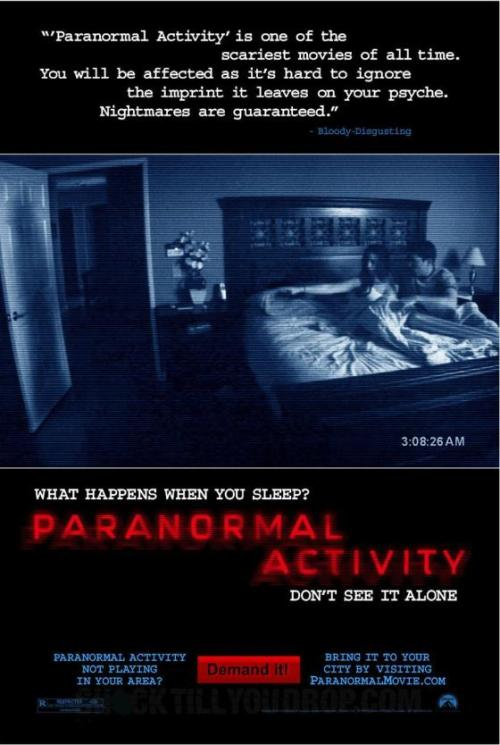 If you Watch Paranormal Activity Backwards, its about a couple who captures terrifying video footage right away, and then spends the whole movie trying to do it again and failing miserably.