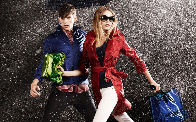 Here is the Burberry April Showers 2011 campaign featuring Cara Delevingne and Sebastian Brice, photgraphed by Jacob Sutton.