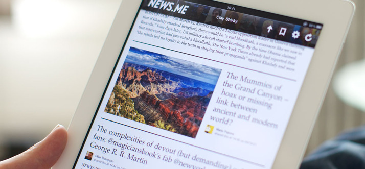 News.me prepares for launch A collaboration by bit.ly and the New York Times R&D lab. Until I can get my hands on it, it's hard to say what it may offer that Flipboard doesn't already provide. Peter Kafka offers some clues.