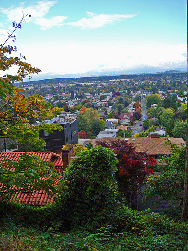 house with a view (by daftgirly) submitted via the fyeahportland flickr group!