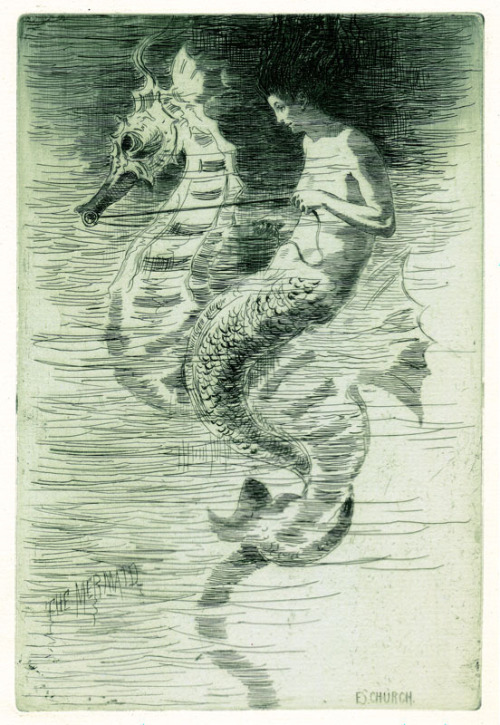 mermaidescapades:   Frederick Stuart Church's The Mermaid