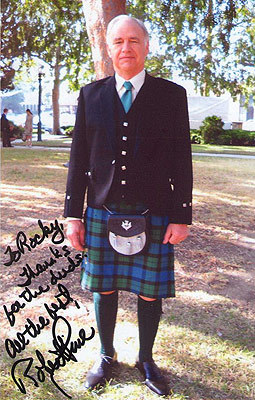 Thanks for the duds? … Anyway, Mr. Robert Pine in a kilt, ladies and gentlemen.