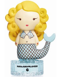 Look how adorable this is!!! I love Gwen Stefani's Harajuku Lovers perfume collection, and this is the G fragrance, a limited edition bottle for spring summer 2011. I am obsessed with these bottles from all the different collections because they're so cute, and the perfumes smell so lovely too! But i particularly like this one because she's a mermaid! Too sweet…..may grab one of these today on my travels!  <3