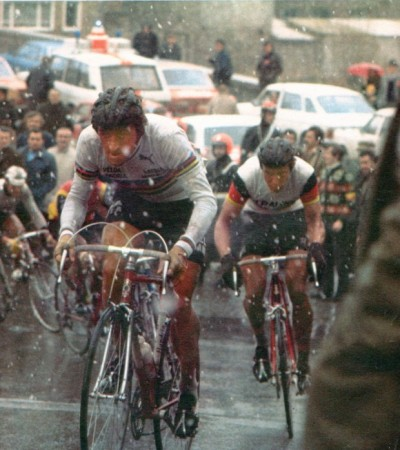 cadenced:  Freddy Maertens on the Mur de Huy. A profile of the role of the Mur de Huy in La Flèche Wallonne can be found over on Cycle Sport Magazine with the result of this year's race expected to be decided later today. Photo comes courtesy of Velominati