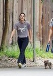 Gossip Girl's Leighton Meester Walking Dog Pictures