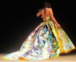 wishonpinkcars:  this dress is made entirely of golden books